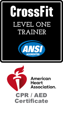 CrossFit Level 1 Trainer, CPR/AED Certificate